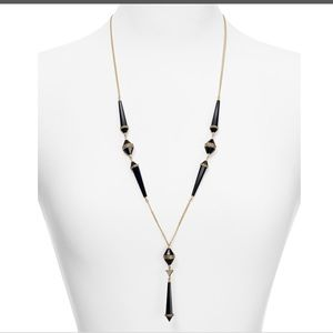 House of Harlow Corona Pendent Necklace-Black